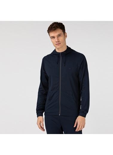 Lacoste Erkek Fermuarlı Sweatshirt SH0104.04L Lacivert